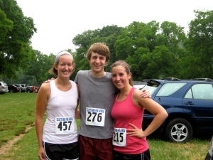 M, S, and I after the race!