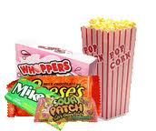 popcorn and candy at the movies