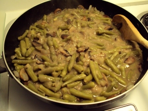 green beans and soup