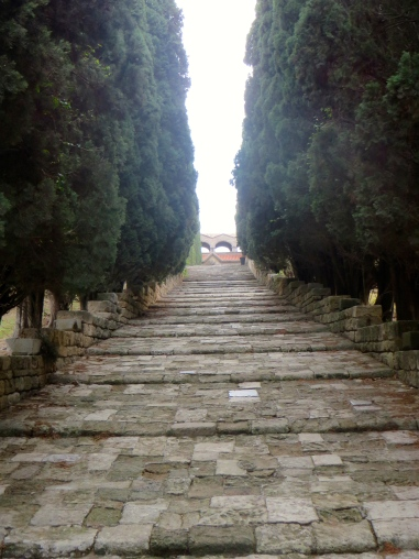 steps to the monastery