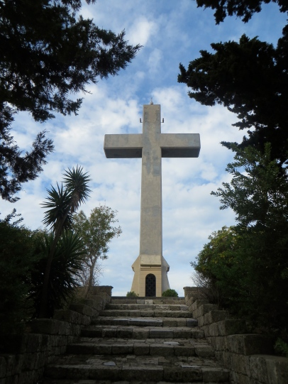 cross at the end of walk