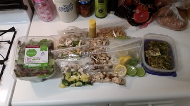 breakfast and lunch prep for the week