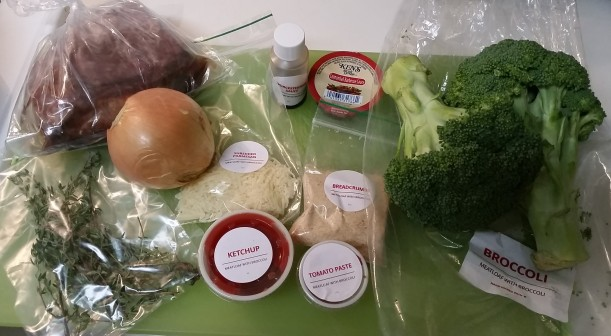 my first meal - every ingredient measured out