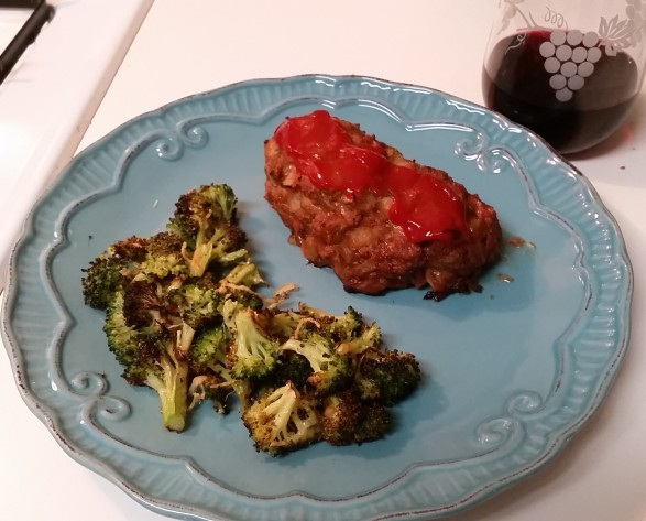 meal #1 - meatloaf and broccoli