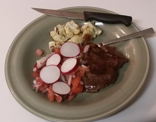 Salvadoran Flat Iron Steak