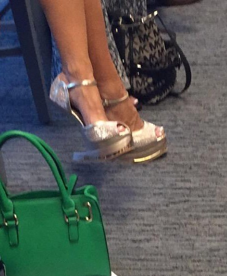 these happened; heel-less stilettos??