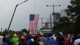 just before the flag came down due to rain
