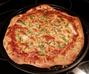 perfecting my pizza-making skills