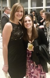friend and I at a wedding