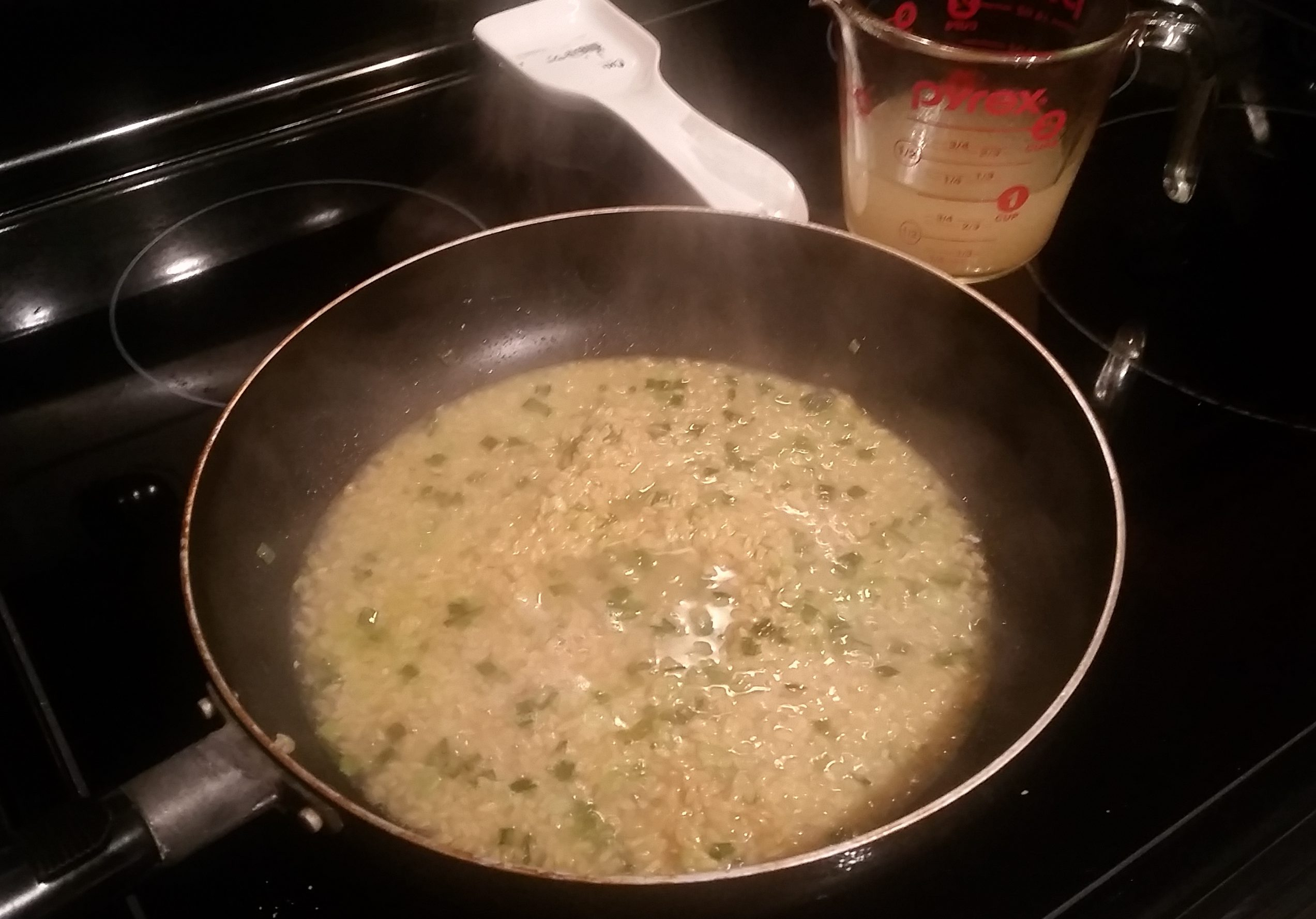 add chicken broth