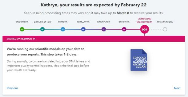 23andme tracking